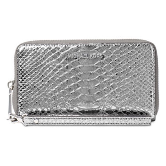 369bf0195d7e Michael Kors silver wallet